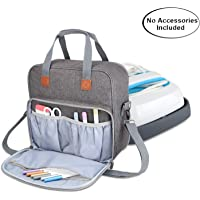 Luxja Carrying Case Compatible with Cricut Easy Press (9 inches x 9 inches), Tote Bag Compatible with Cricut Easy Press and Supplies (NO Accessories Included), Gray