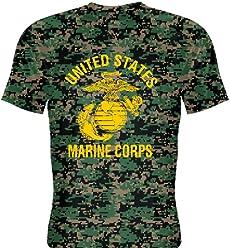 350287afdb LightningWear Youth Marine Corps Shirt Gold Logo - Camouflage Marine Shirt  Youth
