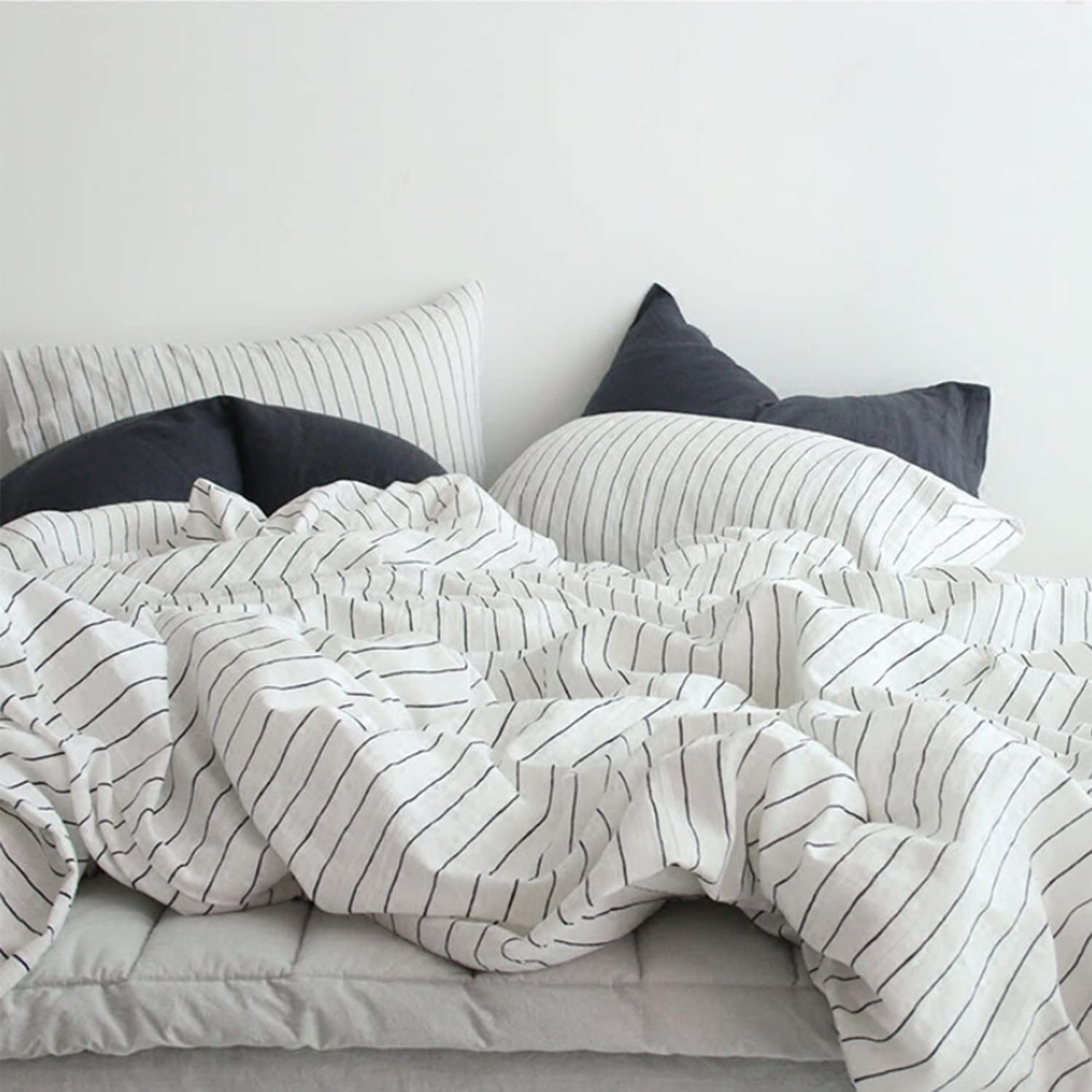 MooMee Bedding Duvet Cover Set 100% Washed Cotton