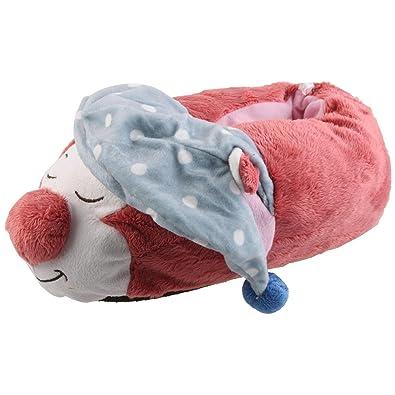 Schlafmütze Katze Tier Hausschuhe Pantoffel Schlappen PlüschMdchen Rosa 27-41