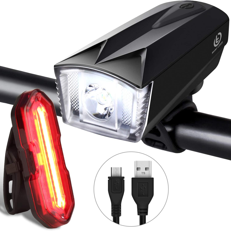 Waterproof LED Safety Bike Light Set White Headlight Red Taillight 3 Modes