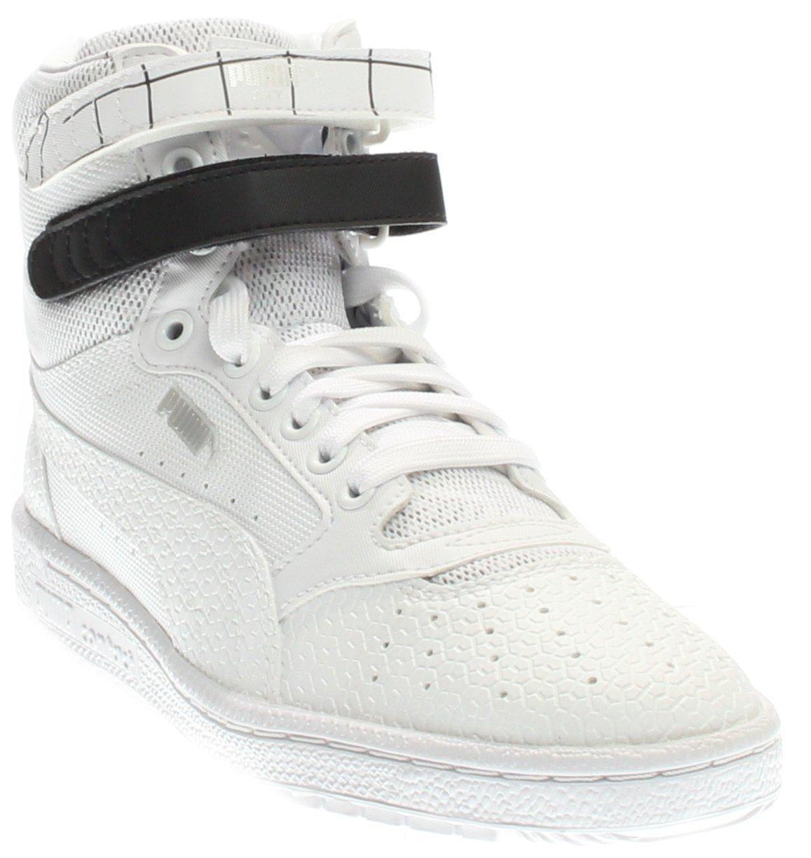 PUMA Women's Sky Ii Hi Sf Texture WN's Basketball Shoe, White Black, 9 M US