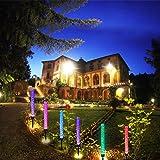 Outdoor Solar Garden Stake Lights,Wohome 2pcs Solar Acrylic Bubble RGB Color, Solar Landscape Lighting Light for Garden, Patio,Yard Decoration