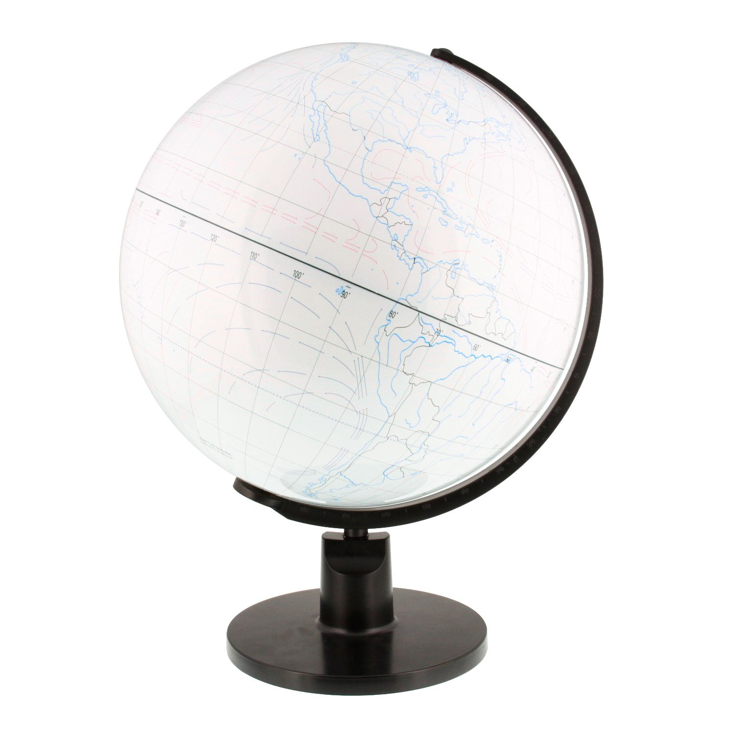 12.6'' Inch (32cm) Large White Drawing Board World Earth Globe by TCP Global