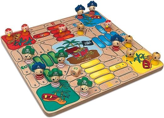 Cayro - Parchis Madera Piratas 28X28 con Fichas 150-840: Amazon.es: Juguetes y juegos