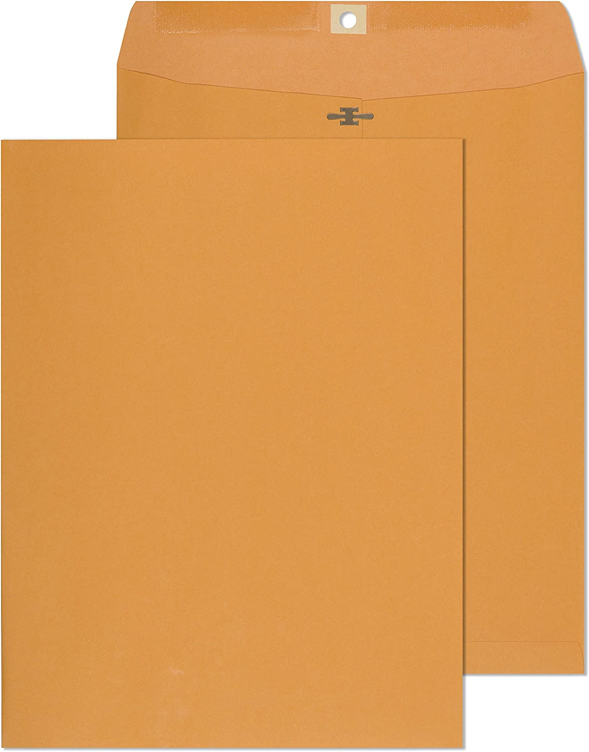 9 1/2 x 12 1/2 Clasp Envelopes – Brown Kraft Catalog Envelopes Gummed Seal Closure – 28lb Heavyweight Paper Envelopes for Home, Office, Business, Legal or School – 100 Box 9.5x12.5 inch