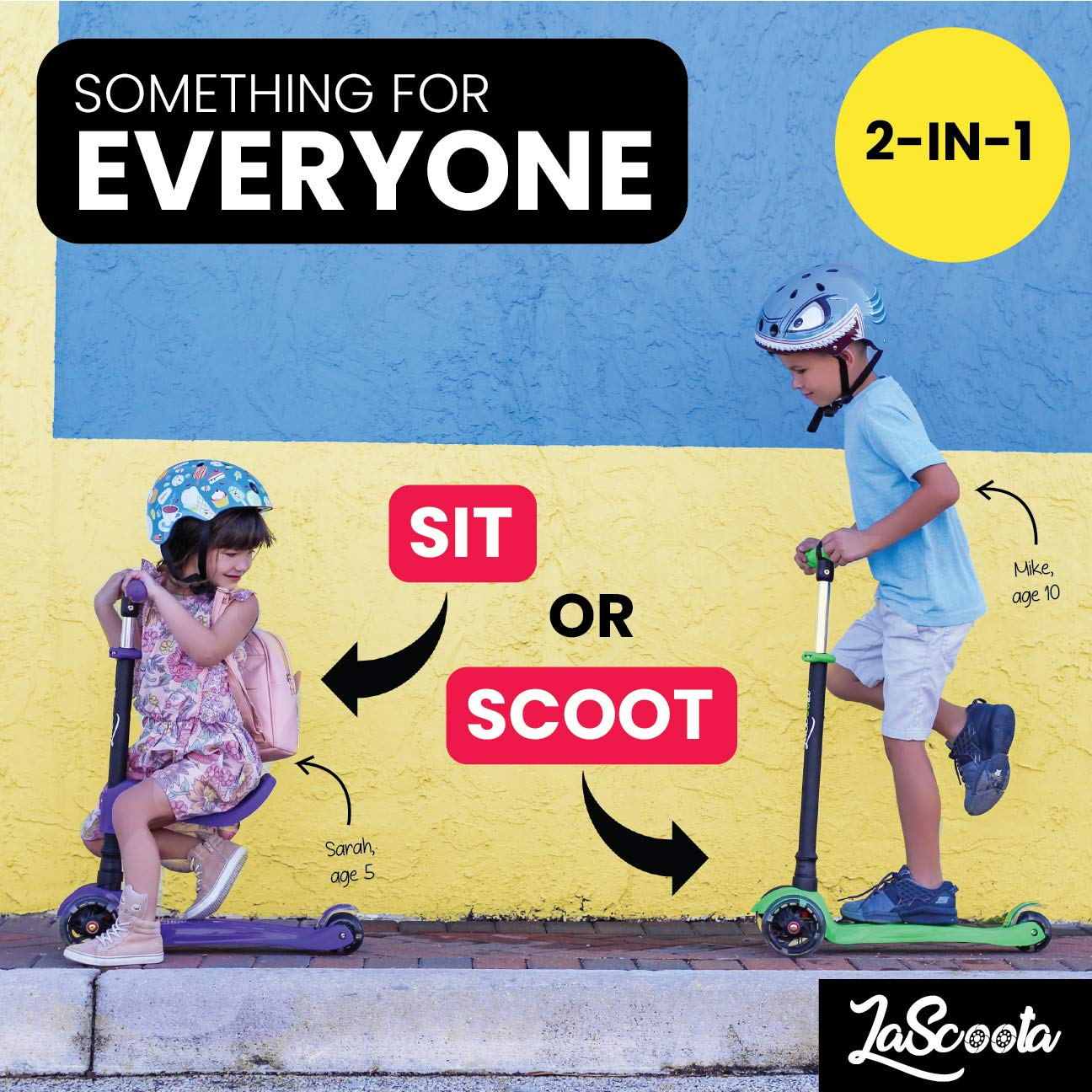ac3e6dd7f86 Amazon.com   Scooter for Kids Scooters 3 Wheeled Scooter 3 Wheel Scooter  for Kids Ages 2-12 (Blue)   Sports   Outdoors