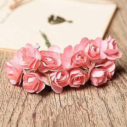 Amazon cyclamen9 12pcs mini paper rose handmake artificial cyclamen9 12pcs mini paper rose handmake artificial flower bouquet wedding decoration diy wreath gift scrap booking mightylinksfo