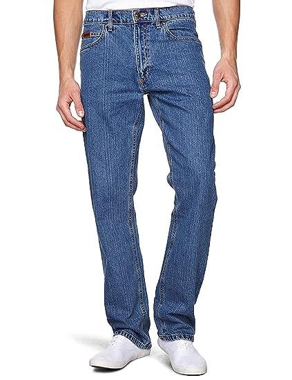 Farah Mens Straight Cut 12OZ Stretch Denim with Double Stitch in Stone WASH Blue in Waist 40 to 64 & Insideleg 303234