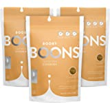 Booby Boons Lactation Cookies, Caramel Crunch, Pack of 3 Bags - 12 Cookies per 6oz - Gluten Free, Soy-Free, Fenugreek-Free La