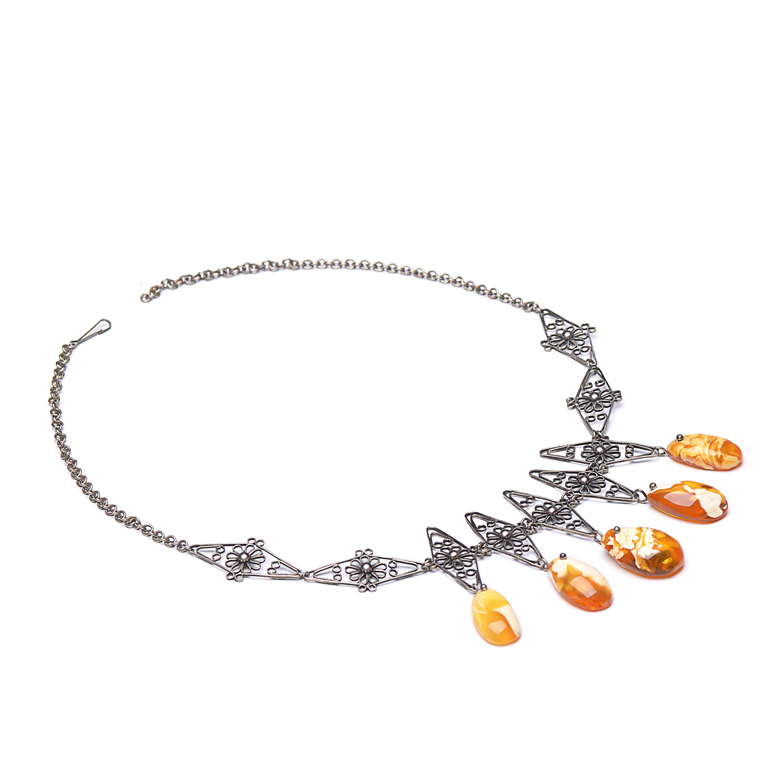 Middle Age Style Necklace - Vintage Necklace - Amber Necklace - Vintage Amber Necklace - Baltic Amber by Genuine Amber