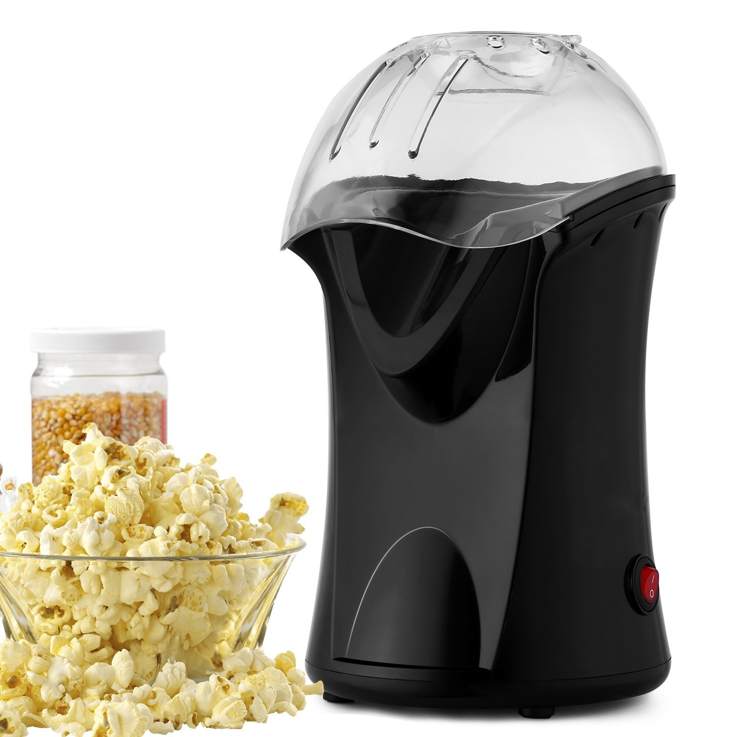 Acazon Popcorn Popper Hot Air Popcorn Machine/Popcorn Maker with Measuring Cup Popcorn Healthy Machine No Oil Needed (US STOCK)