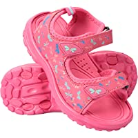 Mountain Warehouse Sand Girls Sandals - Neoprene Kids Beach Shoes, Durable Outsole Summer Shoes, Hook & Loop, Removable Heel Strap Childrens Shoes -for Travelling, Beach