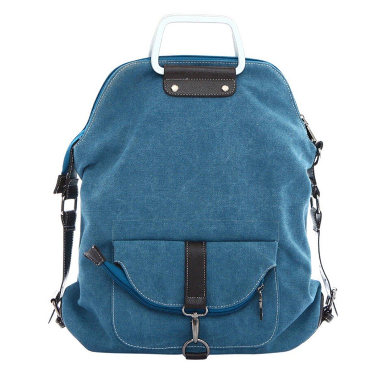 Tiny Chou Multi-functional Women's Top Handble Canvas Handbag Vintage Crossbody Bag Cute Backpack