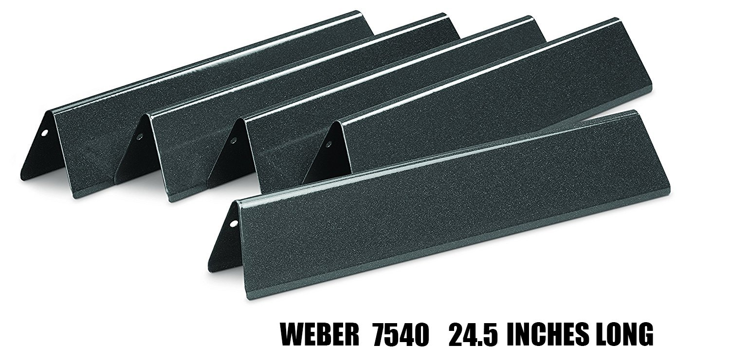 Edgemaster NEW Porcelain Steel Gas Grill Replacement Weber 7540 Flavorizer Bars/Heat Plate/Heat Shield for Weber Genesis E/S - 310 & 320(2007-2010)Gas Grill