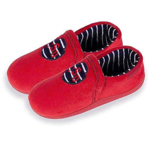 Mocasines de casa para niño Isotoner 34: Amazon.es: Zapatos y complementos