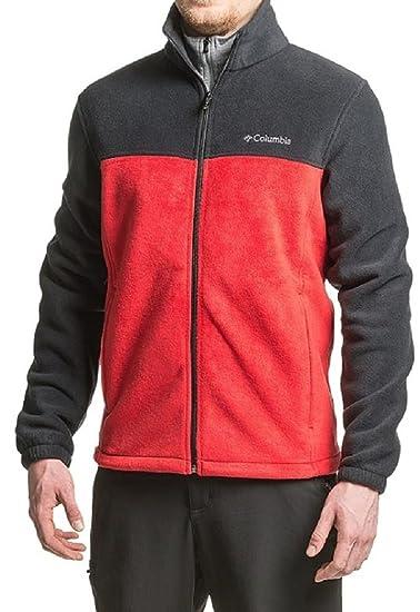 ac6576f6187 Columbia Men's Flattop Ridge Fleece Jacket (Large, Mountain Red/Black)