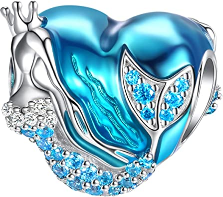 925 Sterling Silver Disne When You Wish Upon A Star Charm Light Blue Enamel Bead
