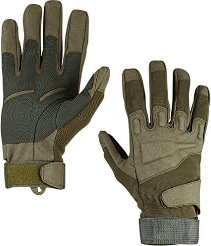 Military Combat Glove Black leather Russian ARMY