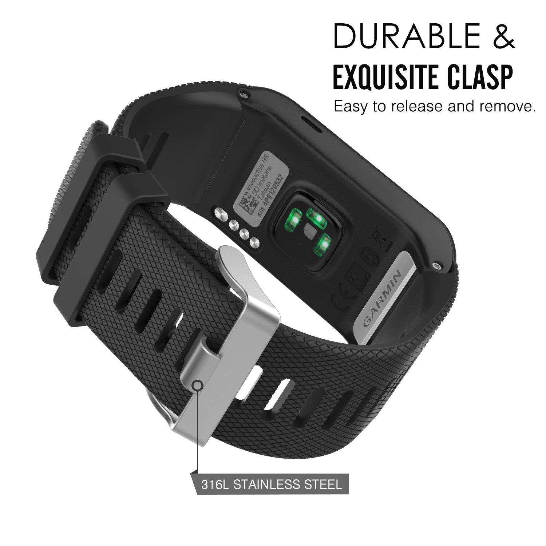 MoKo Garmin vívoactive® HR bracelet, Replacement WatchBand Wristband en Silicone souple Band pour Garmin Vívoactive HR Montre multisports cardio poignet, ...