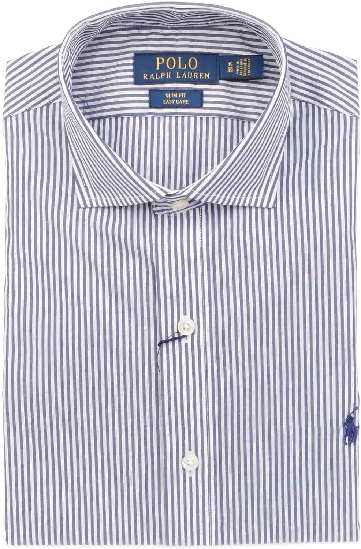 Ralph Lauren - Camisa Casual - para Hombre Blanco/Azul 44: Amazon ...