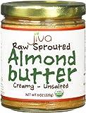 Jiva Organics RAW SPROUTED Organic Almond Butter 8-Ounce Jar