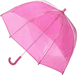 """totes Girls Clear Bubble Umbrella, Pink, 38"""" Canopy"""