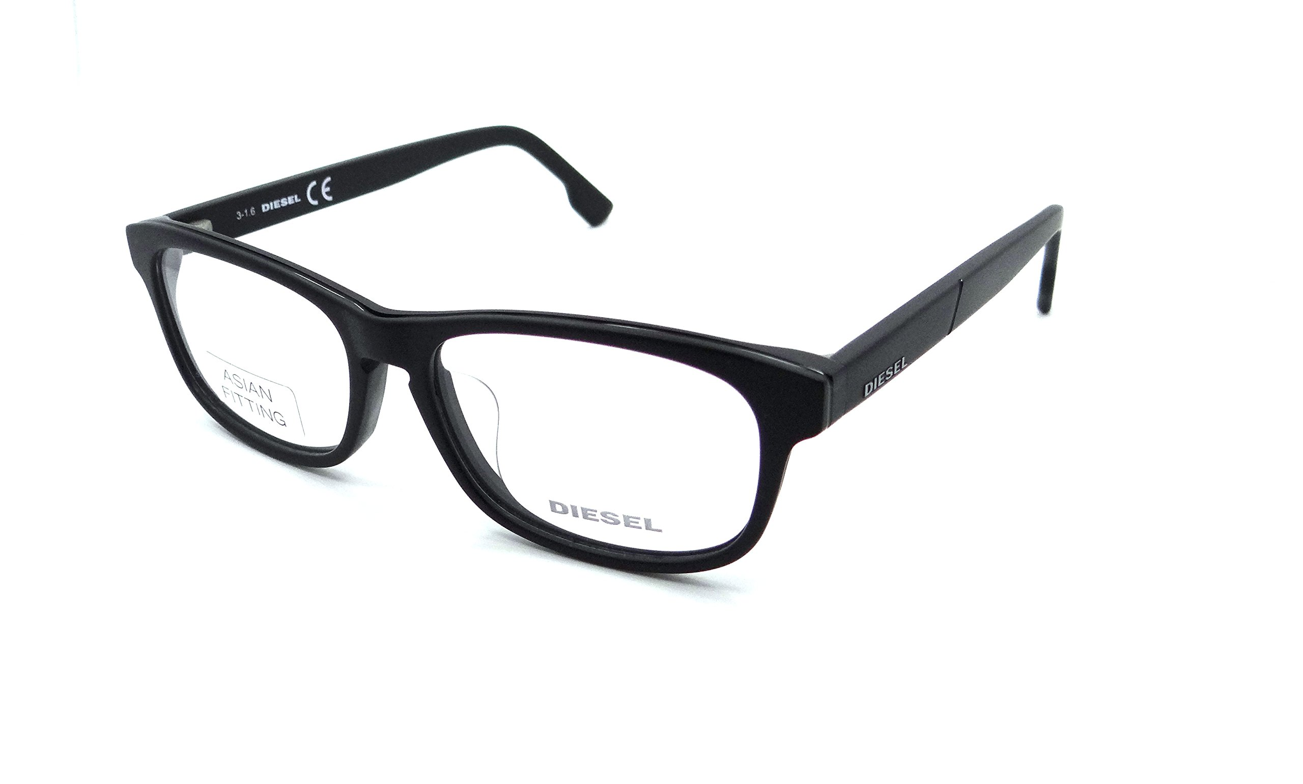 Diesel Rx Eyeglasses Frames DL5197-F 002 53-15-145 Matte Black Asian Fit