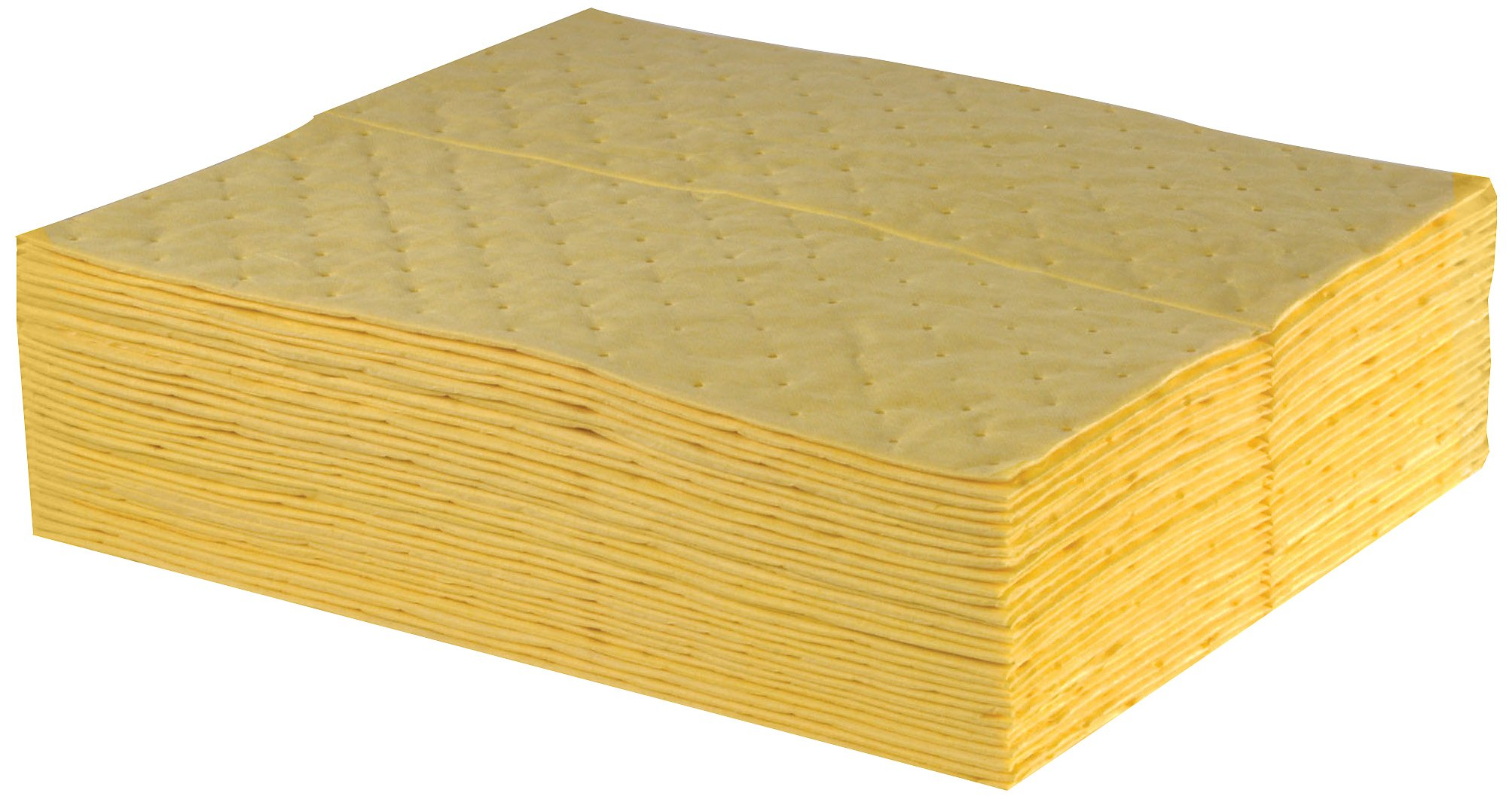 ESP 1AMYPL Airmatrix Polypropylene Heavy Weight Chemical Hazmat Absorbent Laminated Pad, 18'' Length x 16'' Width, Yellow (100 Per Bale)