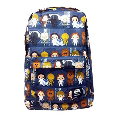 Loungefly Disney Star Wars Chibi Character Nylon Backpack: Clothing