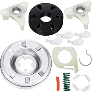 Hotop Washing Machine Replacements Including 1 Piece Washer Clutch Kit(285785), 1 Piece Motor Coupling Kit(285753a) and 4 Pieces Washer Agitator Dog (80040)