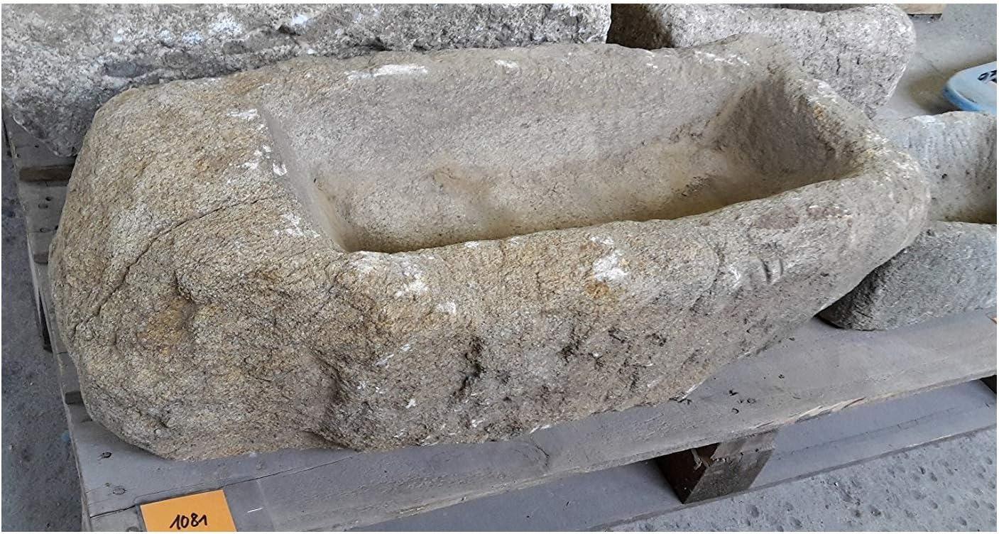 ca L//B//H ca Natursteinzentrum Rhein Main Trog aus Granit grau Au/ßenseite 100 kg 80//35//35 cm
