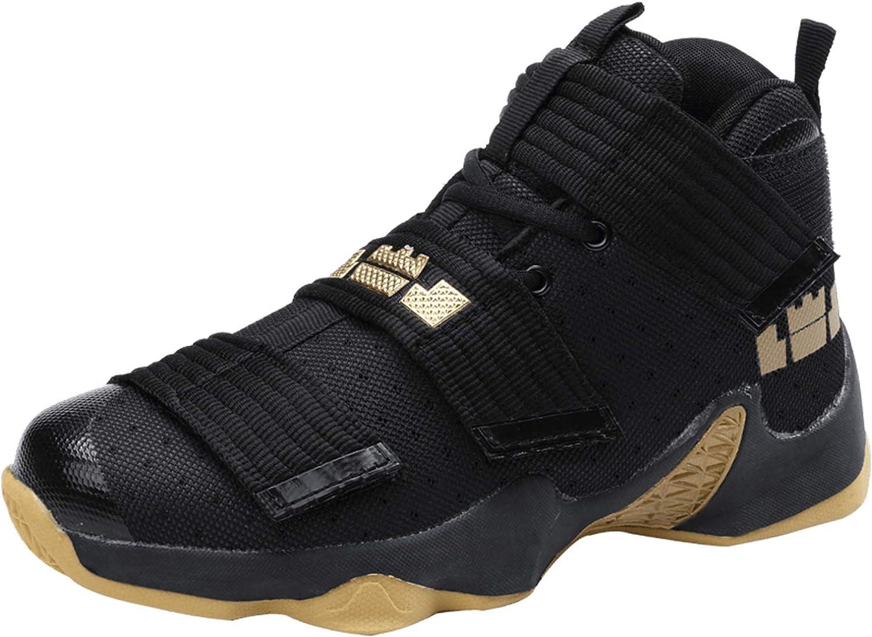 SINOES Hombre Mujer Zapatillas de Baloncesto Calzado Deportivo Al Aire Libre Moda High-Top Sneaker Antideslizante Zapatillas de Deporte Ligeros Zapatos para Correr
