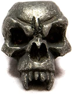 """product image for Schmuckatelli Co. Fang Black Oxidized Pewter Skull Bead 3/16"""" Hole"""