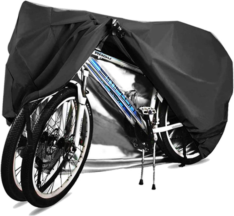 WDDLD Funda Bicicleta, Bicicleta, Funda Bicicleta Exterior Impermeable, Funda para Bicicleta Exterior, ProteccióN Solar 210d, Apto para 2 Bicicletas, XXL