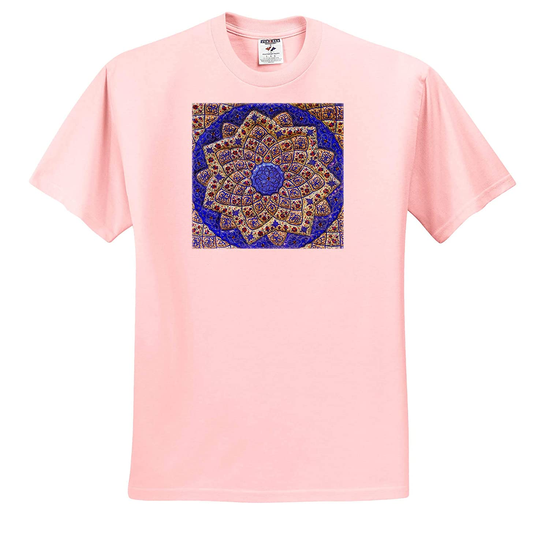 Abstracts 3dRose Danita Delimont Ancient Arab Islamic Designs Blue Pottery Madaba Jordan Adult T-Shirt XL ts/_312780