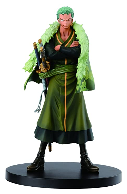 53076ab50eae3 Image Unavailable. Image not available for. Color: Banpresto One Piece  6.7-Inch 15th Anniversary Edition Zoro ...