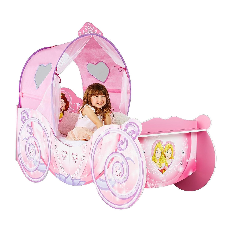hellohome passeggino per bambine, tema: principesse disney, legno ... - Letto Carrozza Disney