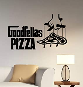 Goodfellas Pizza Logo Wall Vinyl Decal Vinyl Sticker Window Sign The Godfather Movie Art Best Decorations for Italian Restaurant Kitchen Cafe Decor Made in USA Fast Delivery