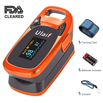 Ulaif Fingertip Pulse Oximeter, OLED Portable Oximetry Blood Oxygen  Saturation Monitor SpO2 Finger