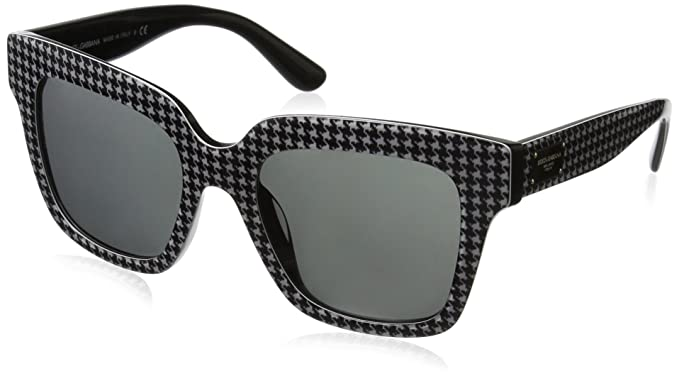 Dolce & Gabbana 0Dg4286 Gafas de sol, Black/Print Pied De ...