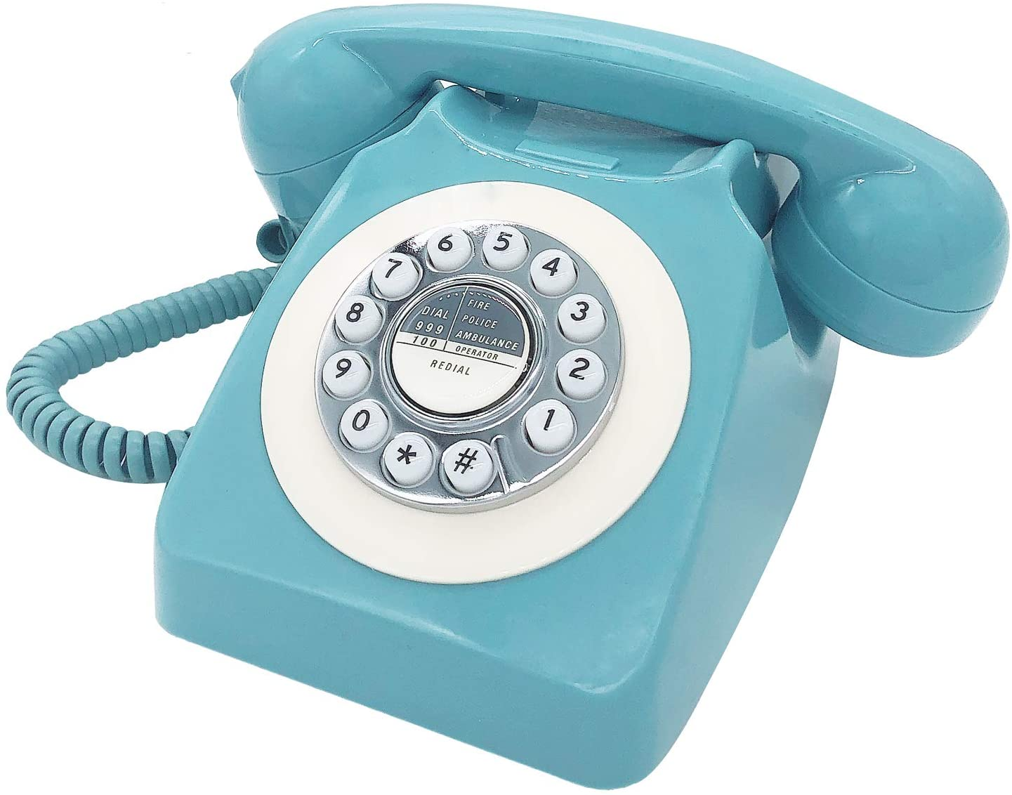Corded Retro Phone, TelPal Vintage Old Phones, Classic 1930's Antique Landline Phones for Home & Office Decor, Novelty Hotel Telephone with Redial