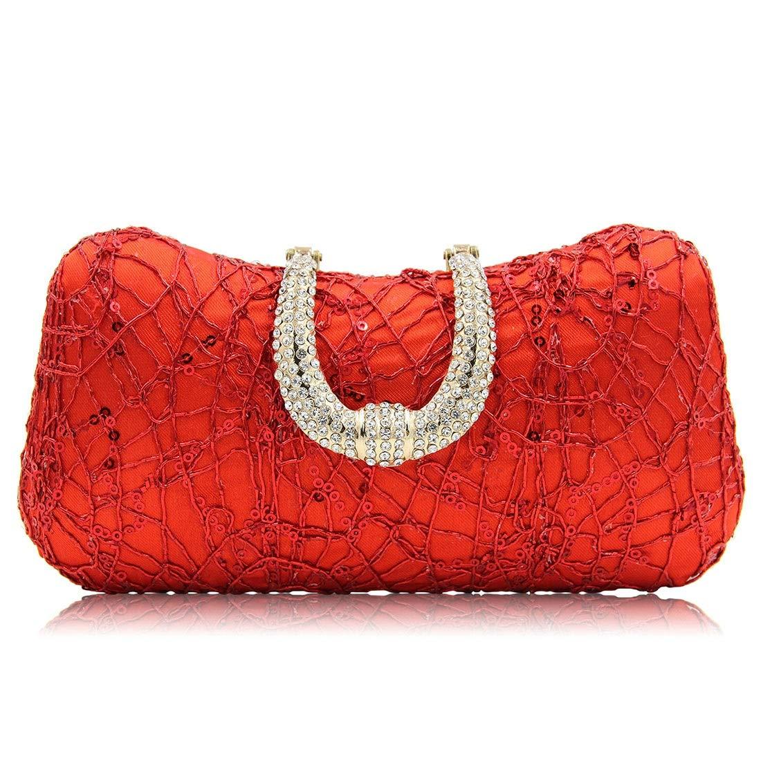 fee8488883 Cijfay Sac de soirée pour Femme Sac à bandoulière (Color : Red)