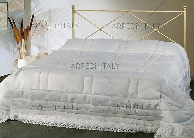 Testate Letto Ferro Battuto Toscana.Letto Matrimoniale In Ferro Colore Avorio Con Giroletto