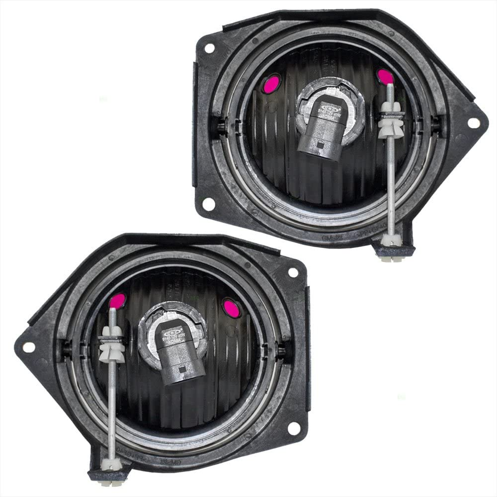 Driver and Passenger Fog Lights Lamps Replacement for Hummer H3 Pickup Truck SUV 15807157 15807158