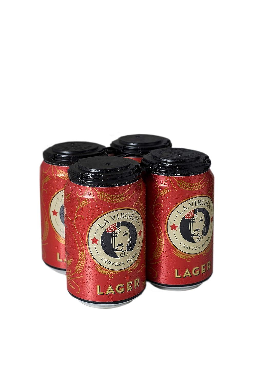 La Virgen Cerveza Latas de Lager - Paquete de 4 x 330 - Total ...