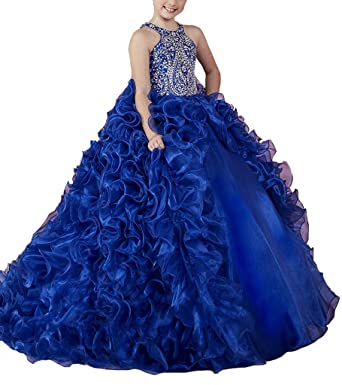 d1f06a255 TuanYuan Princess Girls Royal Ball Gowns Kids Party Pageant Dresses with  Removable Skirt 02