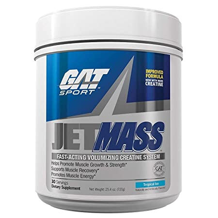 GAT – Jetmass – Fast-Acting Creatine Muscle Gainer Black Cherry 30 Servings 25.4 oz