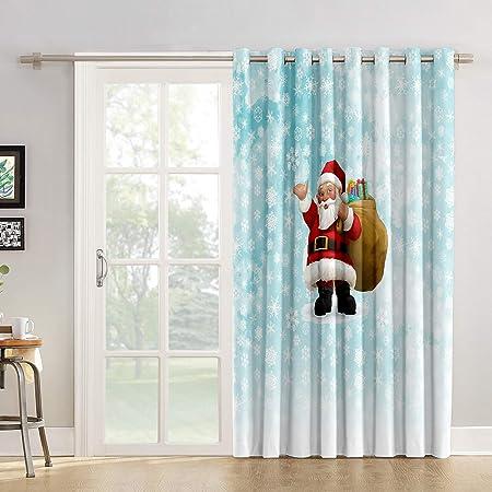 Red Vow Cortinas de Cocina con diseño geométrico de árbol de Navidad para salón, Dormitorio, Puerta corredera de Cristal o Patio: Amazon.es: Hogar