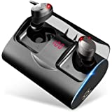 Auriculares Bluetooth, YATWIN Auriculares Inalámbricos Bluetooth 5.1 Estéreo Hi-Fi Sonido IPX7 Resistentes al Agua, 150H…